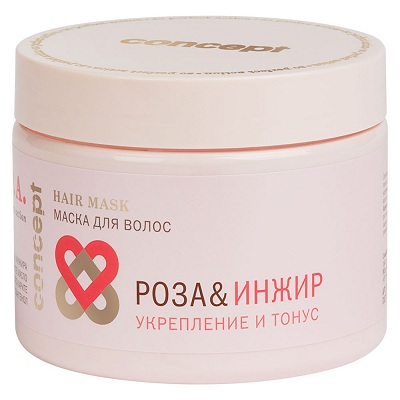 Маска для волос Роза&Инжир укрепление и тонус Power&Tonus Hair Mask 350 мл
